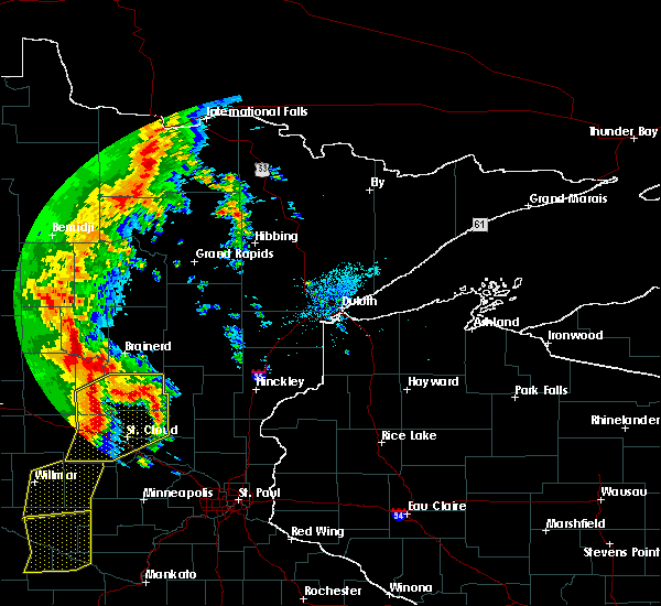 Radar Image for Severe Thunderstorms near Pequot Lakes, MN at 9/20/2017 1:24 AM CDT