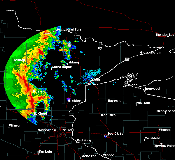 Radar Image for Severe Thunderstorms near Pequot Lakes, MN at 9/20/2017 1:37 AM CDT