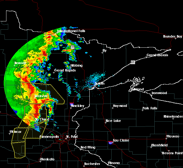 Radar Image for Severe Thunderstorms near Pequot Lakes, MN at 9/20/2017 1:45 AM CDT