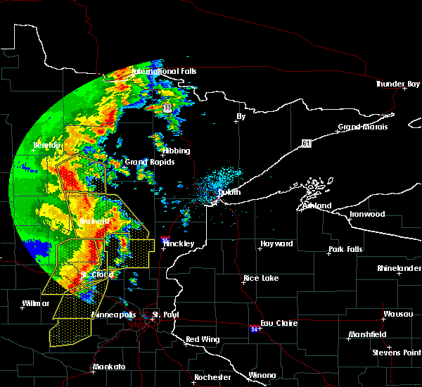 Radar Image for Severe Thunderstorms near Pequot Lakes, MN at 9/20/2017 1:57 AM CDT