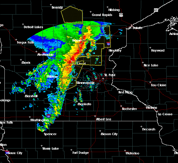 Radar Image for Severe Thunderstorms near St. Francis, MN at 9/20/2017 2:03 AM CDT