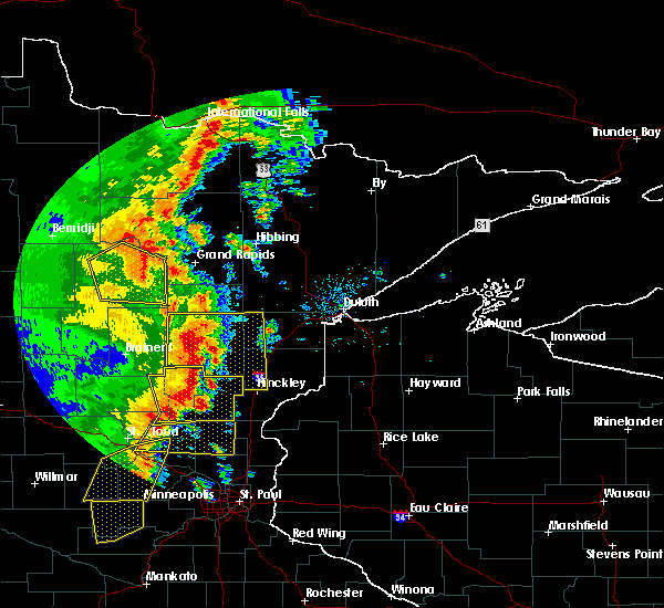 Radar Image for Severe Thunderstorms near La Prairie, MN at 9/20/2017 2:15 AM CDT