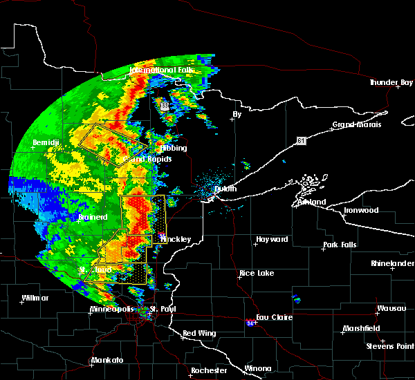 Radar Image for Severe Thunderstorms near La Prairie, MN at 9/20/2017 2:27 AM CDT