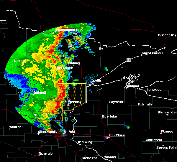 Radar Image for Severe Thunderstorms near Kerrick, MN at 9/20/2017 2:34 AM CDT