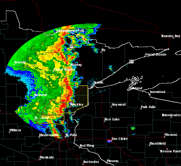 Radar Image for Severe Thunderstorms near Kerrick, MN at 9/20/2017 2:43 AM CDT