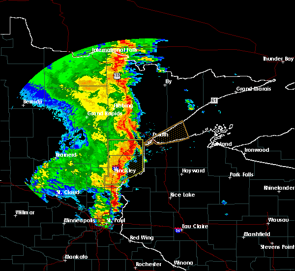 Radar Image for Severe Thunderstorms near Barnum, MN at 9/20/2017 3:07 AM CDT