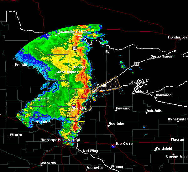 Radar Image for Severe Thunderstorms near Esko, MN at 9/20/2017 3:13 AM CDT