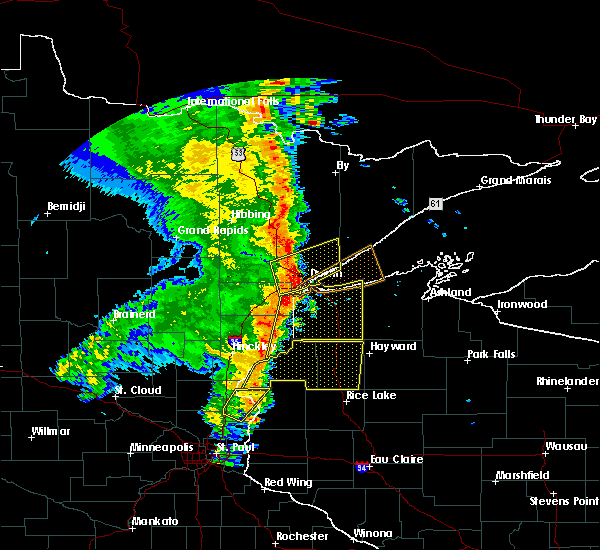 Radar Image for Severe Thunderstorms near Duluth, MN at 9/20/2017 3:19 AM CDT
