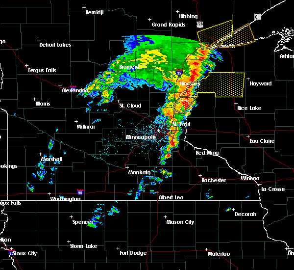 Radar Image for Severe Thunderstorms near North Branch, MN at 9/20/2017 3:22 AM CDT