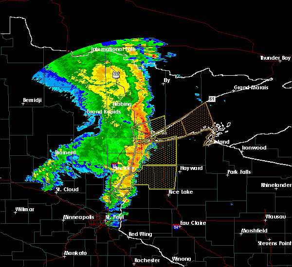 Radar Image for Severe Thunderstorms near Duluth, MN at 9/20/2017 3:25 AM CDT