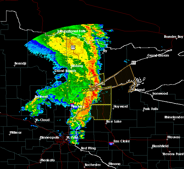Radar Image for Severe Thunderstorms near Duluth, MN at 9/20/2017 3:37 AM CDT