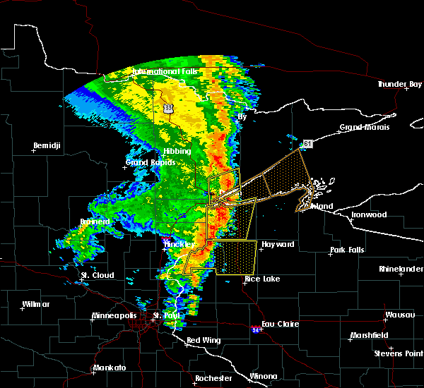 Radar Image for Severe Thunderstorms near Danbury, WI at 9/20/2017 3:43 AM CDT