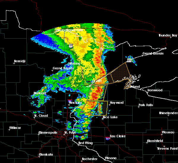 Radar Image for Severe Thunderstorms near Trego, WI at 9/20/2017 3:56 AM CDT