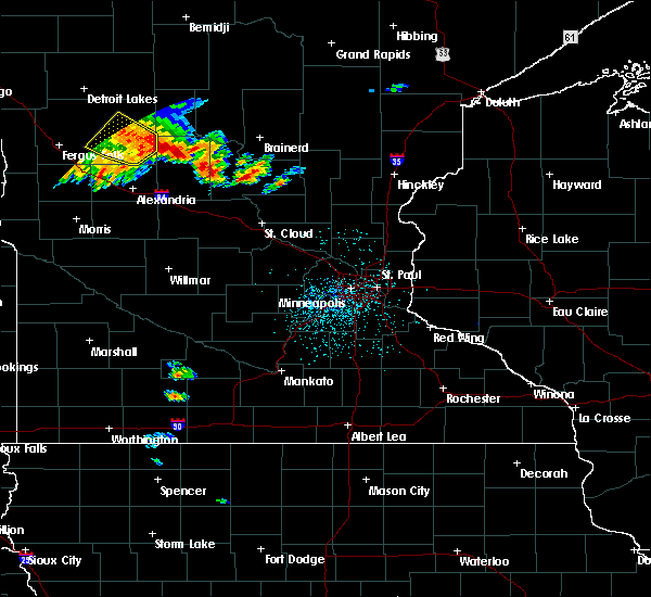 Radar Image for Severe Thunderstorms near Bertha, MN at 9/22/2017 4:18 AM CDT