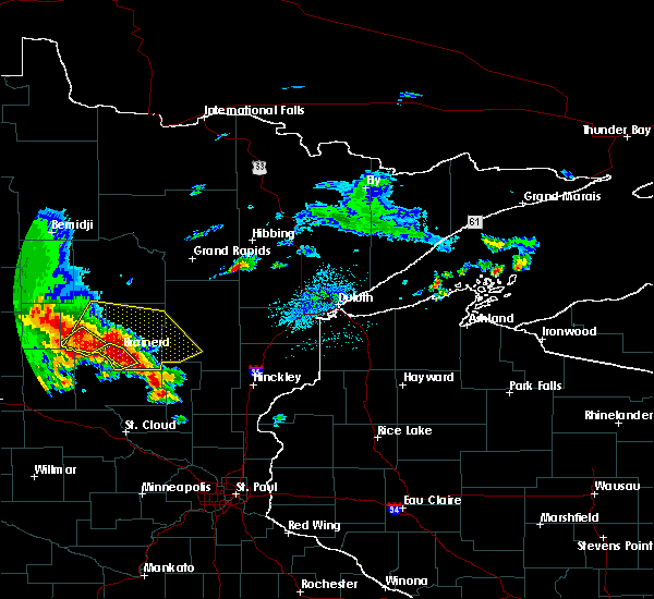 Radar Image for Severe Thunderstorms near Pillager, MN at 9/22/2017 4:54 AM CDT