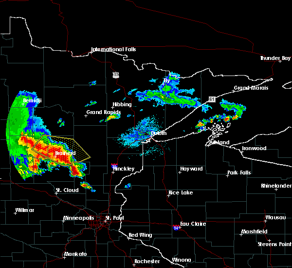 Radar Image for Severe Thunderstorms near Pequot Lakes, MN at 9/22/2017 5:03 AM CDT