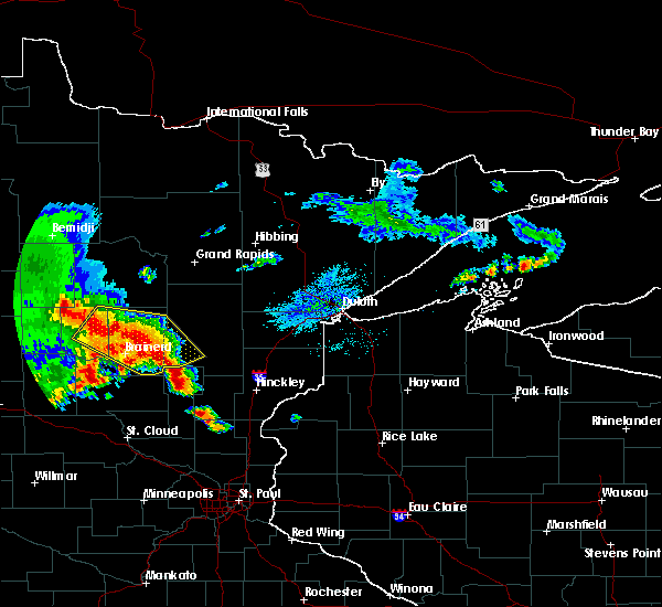 Radar Image for Severe Thunderstorms near Pequot Lakes, MN at 9/22/2017 5:13 AM CDT