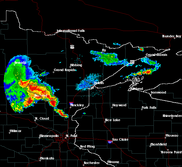 Radar Image for Severe Thunderstorms near Pequot Lakes, MN at 9/22/2017 5:28 AM CDT