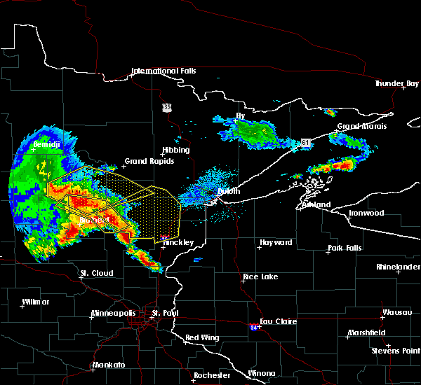 Radar Image for Severe Thunderstorms near Cuyuna, MN at 9/22/2017 5:30 AM CDT