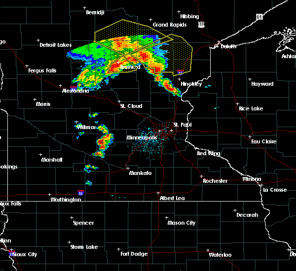 Radar Image for Severe Thunderstorms near Brainerd, MN at 9/22/2017 5:33 AM CDT