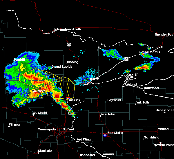 Radar Image for Severe Thunderstorms near Barnum, MN at 9/22/2017 5:45 AM CDT