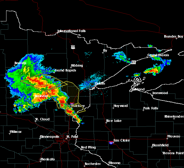 Radar Image for Severe Thunderstorms near Pine City, MN at 9/22/2017 5:48 AM CDT