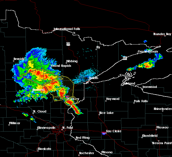 Radar Image for Severe Thunderstorms near Barnum, MN at 9/22/2017 6:04 AM CDT