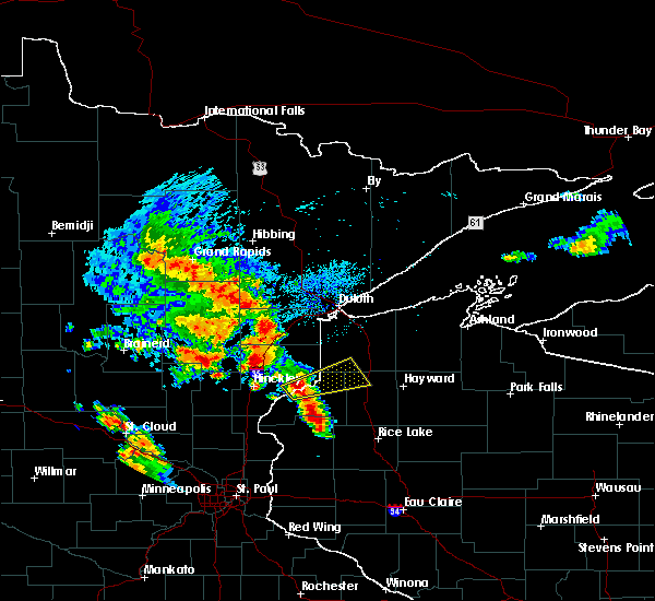 Radar Image for Severe Thunderstorms near Kerrick, MN at 9/22/2017 6:25 AM CDT