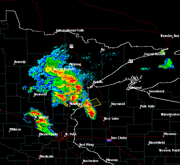 Radar Image for Severe Thunderstorms near Danbury, WI at 9/22/2017 6:40 AM CDT