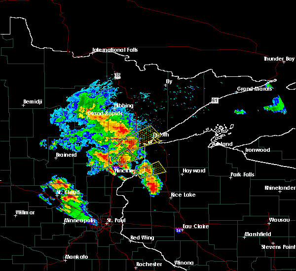 Radar Image for Severe Thunderstorms near Esko, MN at 9/22/2017 6:45 AM CDT