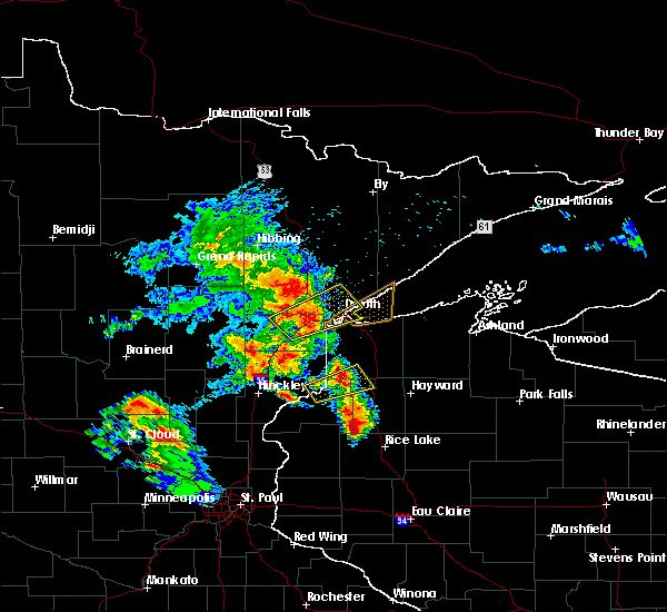 Radar Image for Severe Thunderstorms near Esko, MN at 9/22/2017 6:55 AM CDT