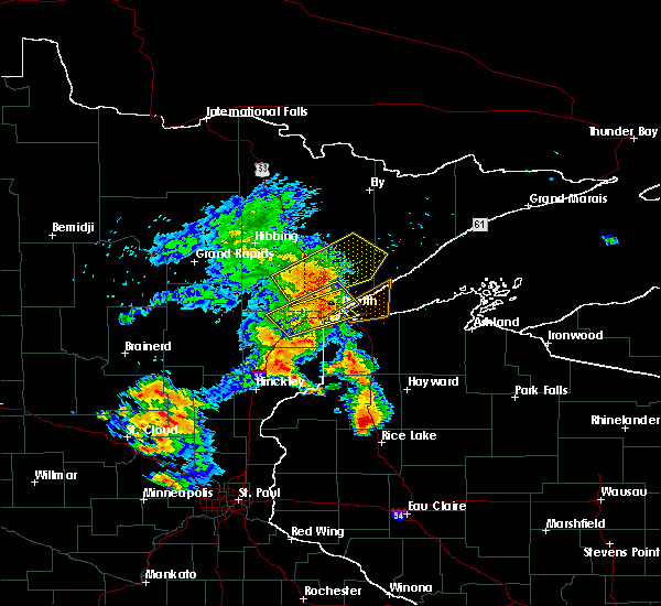 Radar Image for Severe Thunderstorms near Spooner, WI at 9/22/2017 7:10 AM CDT