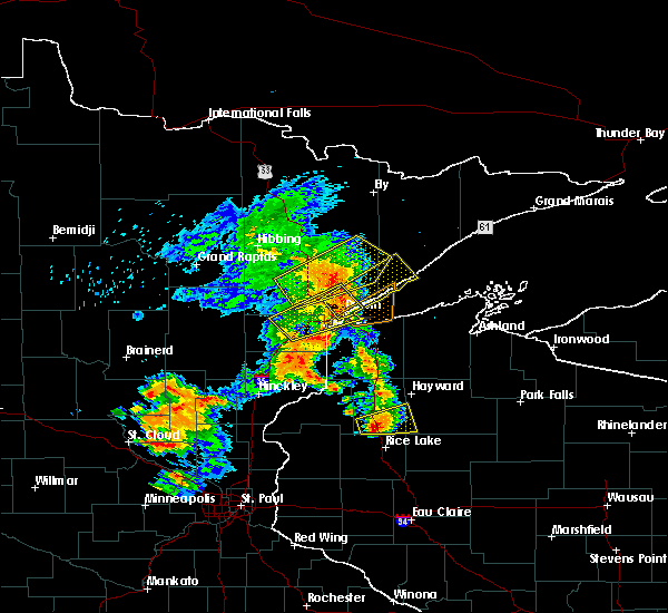 Radar Image for Severe Thunderstorms near Duluth, MN at 9/22/2017 7:19 AM CDT