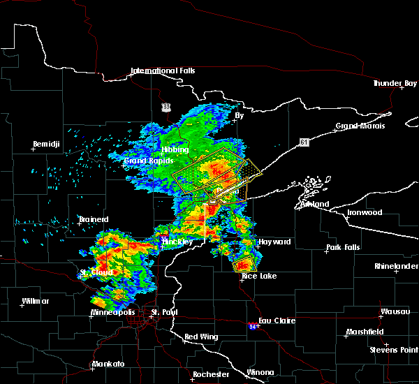 Radar Image for Severe Thunderstorms near Chief Lake, WI at 9/22/2017 7:28 AM CDT