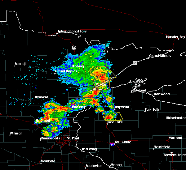 Radar Image for Severe Thunderstorms near Duluth, MN at 9/22/2017 7:37 AM CDT