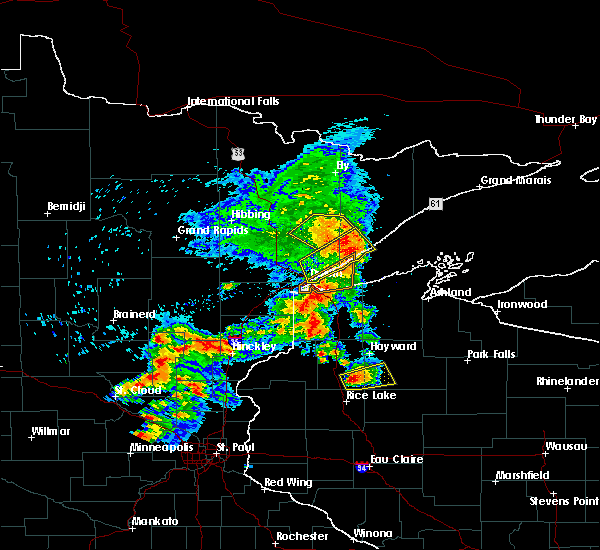 Radar Image for Severe Thunderstorms near Chief Lake, WI at 9/22/2017 7:43 AM CDT
