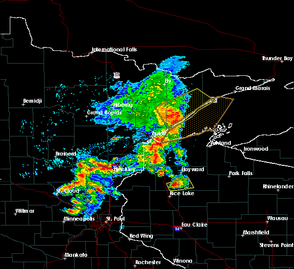 Radar Image for Severe Thunderstorms near Chief Lake, WI at 9/22/2017 7:50 AM CDT