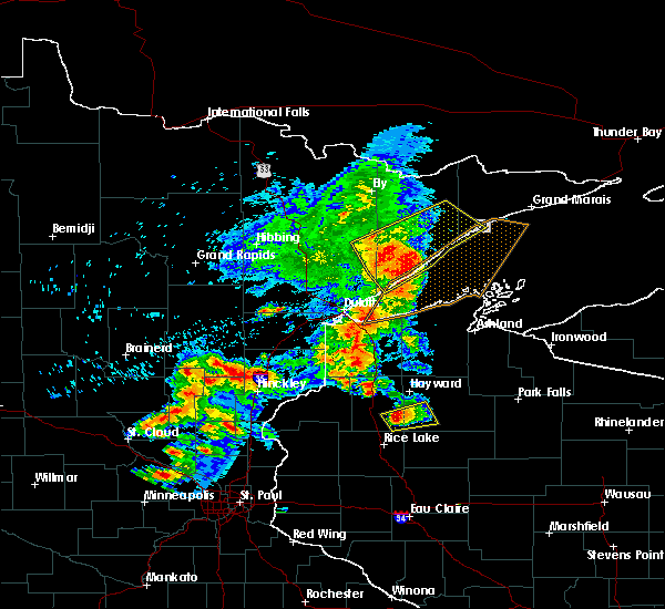 Radar Image for Severe Thunderstorms near Beaver Bay, MN at 9/22/2017 7:53 AM CDT
