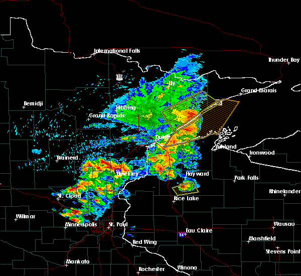 Radar Image for Severe Thunderstorms near Beaver Bay, MN at 9/22/2017 8:04 AM CDT