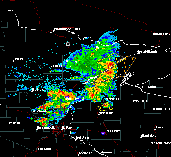 Radar Image for Severe Thunderstorms near Chief Lake, WI at 9/22/2017 8:10 AM CDT