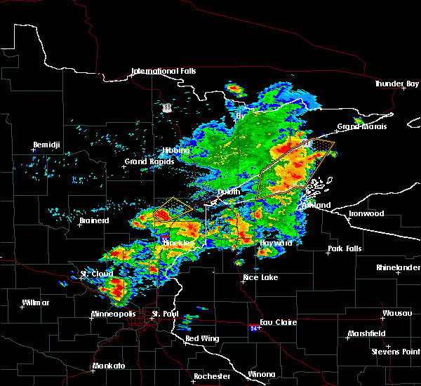 Radar Image for Severe Thunderstorms near Little Round Lake, WI at 9/22/2017 8:29 AM CDT