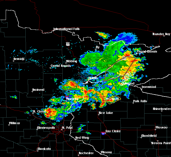 Radar Image for Severe Thunderstorms near Little Round Lake, WI at 9/22/2017 8:46 AM CDT