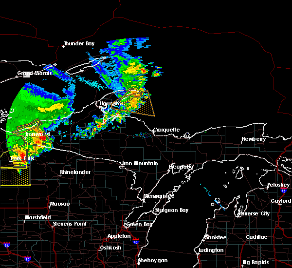 Radar Image for Severe Thunderstorms near Tomahawk, WI at 9/22/2017 11:08 AM CDT