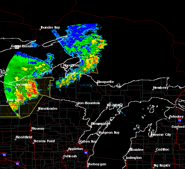 Radar Image for Severe Thunderstorms near Tomahawk, WI at 9/22/2017 11:21 AM CDT