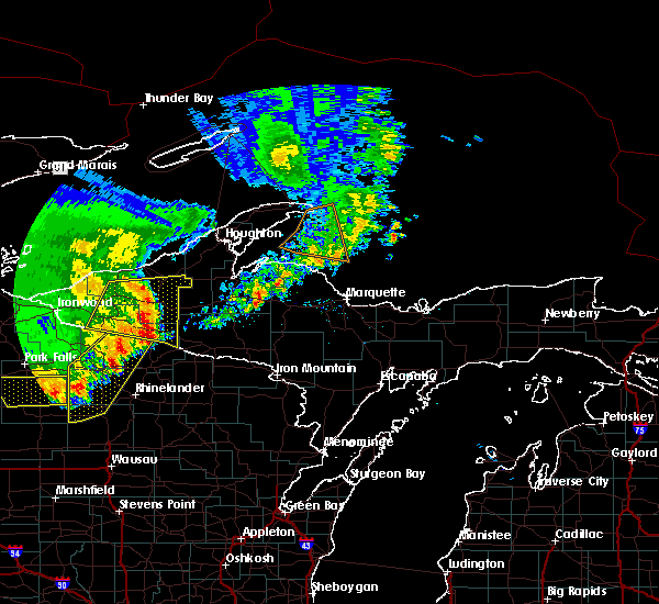 Radar Image for Severe Thunderstorms near Tomahawk, WI at 9/22/2017 11:38 AM CDT