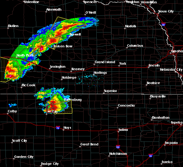 Radar Image for Severe Thunderstorms near Speed, KS at 10/1/2017 6:40 PM CDT