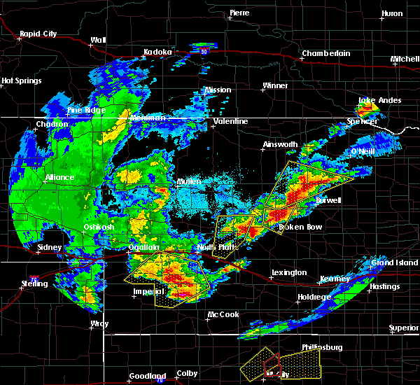 Radar Image for Severe Thunderstorms near Arnold, NE at 10/1/2017 6:40 PM CDT