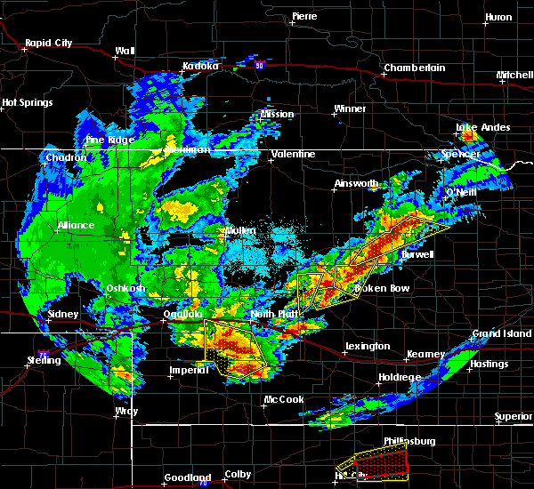 Radar Image for Severe Thunderstorms near Arnold, NE at 10/1/2017 6:55 PM CDT