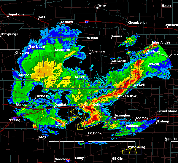 Radar Image for Severe Thunderstorms near Willow Island, NE at 10/1/2017 7:35 PM CDT