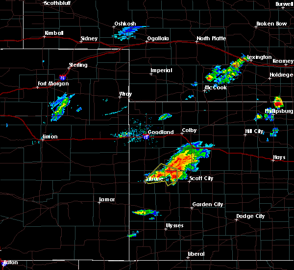 Radar Image for Severe Thunderstorms near Marienthal, KS at 10/2/2017 6:52 PM CDT